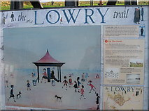 NU0052 : Sign on the Lowry trail, Berwick-Upon-Tweed by Alex McGregor