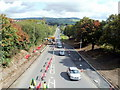 ST1487 : Long queue of traffic on the A468, Caerphilly by Jaggery