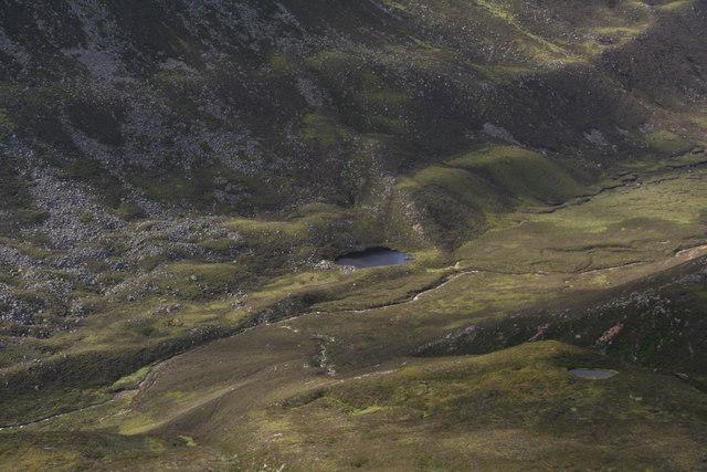 Moraine-dammed lake, Strath Nethy