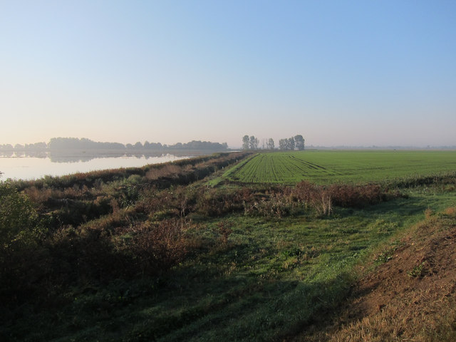 Flooded fields south of River Great Ouse