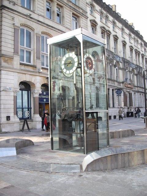 The clock, St Mary St, Cardiff