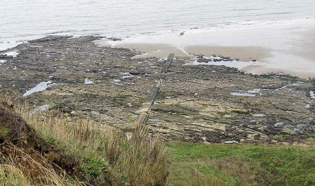 Sewer pipe, Scalby Ness sands