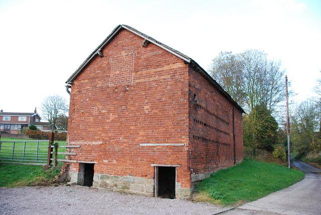 Red Brick Farm Building in Lower Lane, Hopton