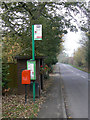 SK6234 : Cotgrave Lane postbox ref NG12 150, and Cotgrave Lane End bus stop by Alan Murray-Rust