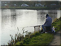 SK6929 : Fisherman at Hickling by Alan Murray-Rust