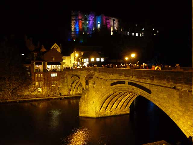 Framwellgate Bridge and Durham Castle, Durham Lumiere 2011