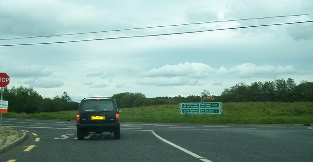Joining the N87 road from the R202