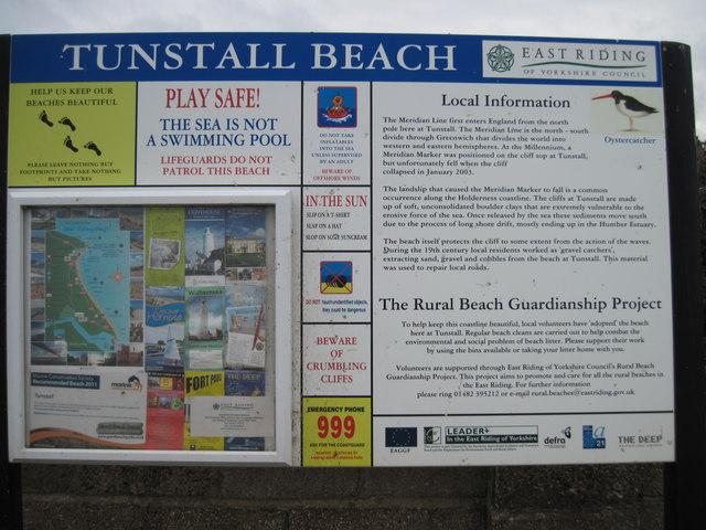 Tunstall  Beach  Notice  Board