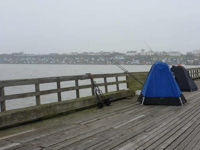Walton on the Naze: anglers' tents on the pier