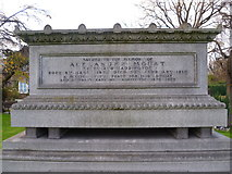 NT2875 : Grave of Alexander Mouat, Seafield Cemetery by kim traynor