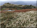 NY3408 : Small tarn north of Alcock Tarn from Butter Crags by David Brown
