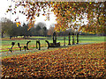 TQ3579 : Outdoor gym in Southwark Park by Stephen Craven