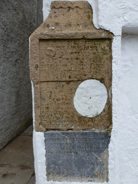 Scalloway: earth tides inscriptions in New Street