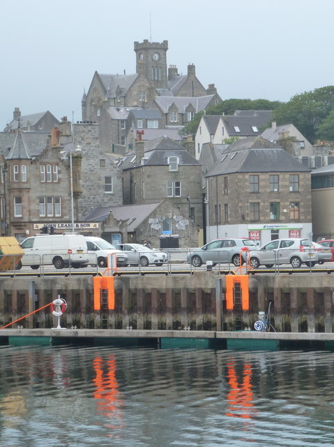 Lerwick: the Town Hall from across the harbour