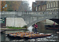 TL4458 : Moving the fleet on the River Cam in Cambridge by Roger  Kidd