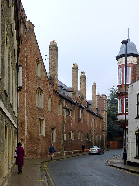 Silver Street on a dull day in Cambridge