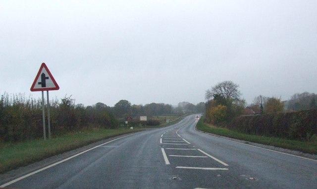 A170 heading west near Sinnington