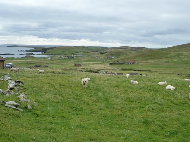 View southwards from Fladdabister