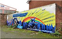 J3475 : Tiger's Bay mural, Belfast by Albert Bridge