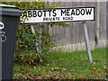 TM1871 : Abbotts Meadow sign by Adrian Cable