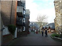 TQ4210 : Cliffe High Street- modern flats next to the parish church by Basher Eyre