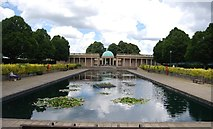 TG2007 : Lily Pond, Bandstand and Colonnades, Eaton Park by N Chadwick