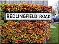 TM1570 : Redlingfield Road sign by Adrian Cable