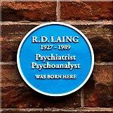NS5862 : R. D. Laing -  Blue Plaque - Ardbeg Street by Alan Murray Walsh