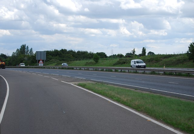 Joining the A47, Norwich bypass