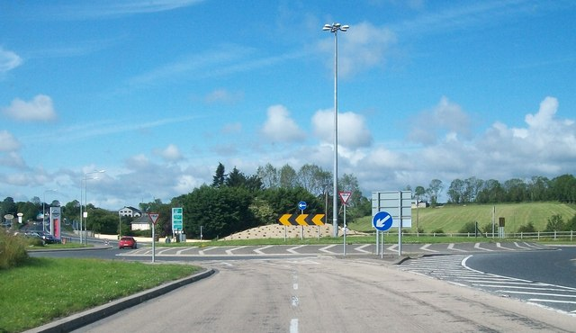 Roundabout at the southern end of the Cavan Bypass