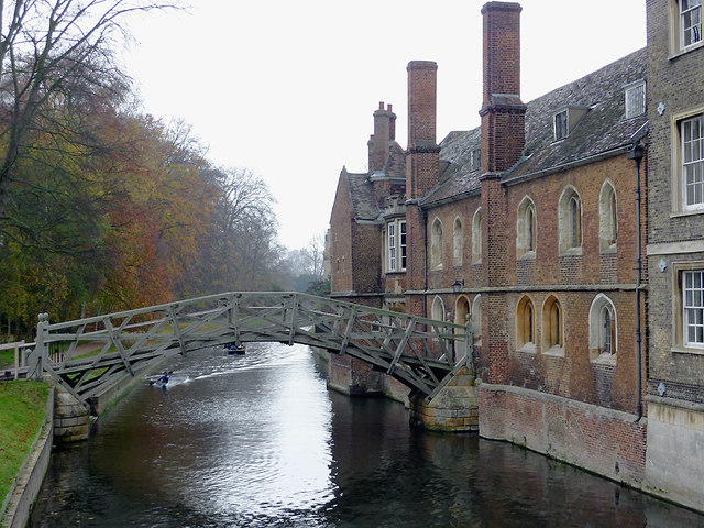 The River Cam by Queens' College, Cambridge