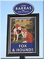 NZ2164 : Sign for The Fox and Hounds, West Road, NE5 by Mike Quinn