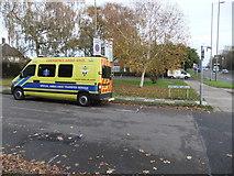 TQ2688 : Ambulance, Widecombe Way N2 by Robin Sones