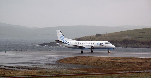 Preparing for takeoff : Sumburgh Airport
