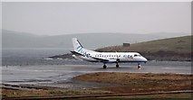 HU3810 : Preparing for takeoff : Sumburgh Airport by Robert W Watt