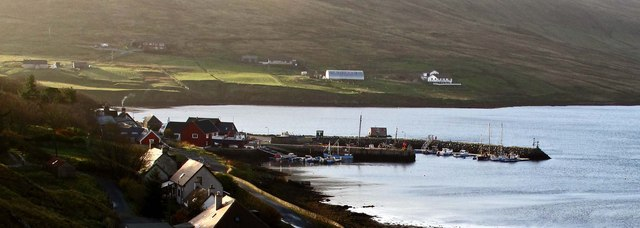 The Harbour at Voe