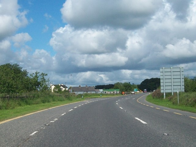 The N5 road near the junction with Cloontrim Road