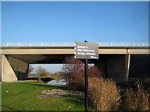 SE3724 : M62 bridge near Altofts by Mike Kirby