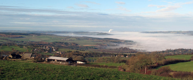 Temperature inversion in the Tyne Valley