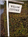 TM2375 : Willow Cottage sign by Adrian Cable