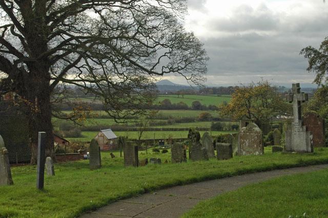 High Offley churchyard
