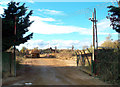 SU4994 : Entrance to Gravel Works by Des Blenkinsopp
