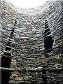 HU4523 : Broch of Mousa - Looking upwards inside by Rob Farrow