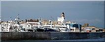 NK0067 : Fraserburgh breakwater and lighthouse by Robert W Watt