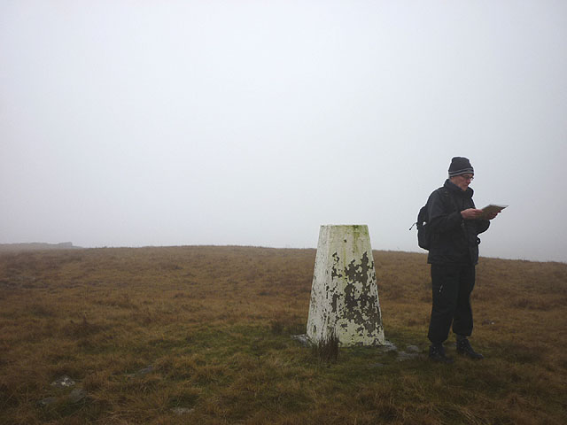 Blea Moor summit. Where to next?