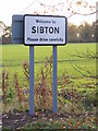 TM3568 : Sibton Village Name sign by Adrian Cable