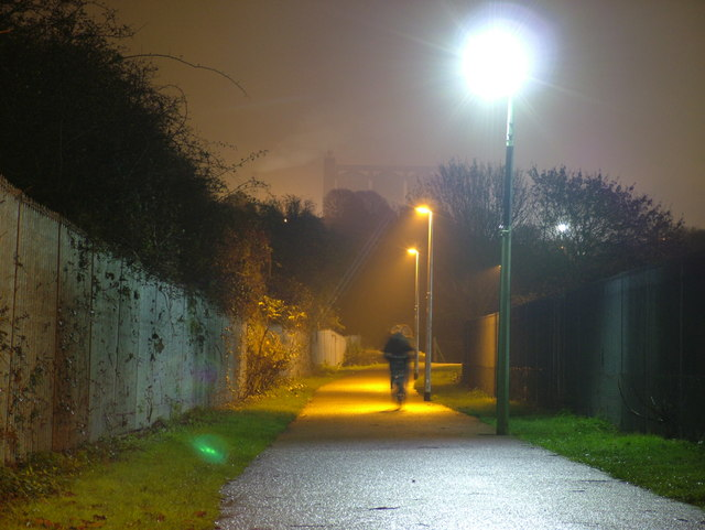 LED streetlight in action