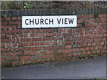 TM4077 : Church View sign by Adrian Cable