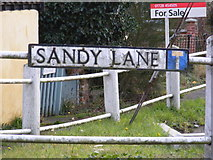 TM4077 : Sandy Lane sign by Adrian Cable