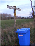TM4579 : Old roadsign near Manor Farm Cottages by Adrian Cable